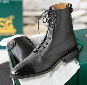 United Sportproducts Germany USG 12000002-100-440 elegante lak laarzen om te vegen, maat 40, zwart