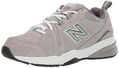 New Balance Men's 608v5 Casual Comfort Cross Trainer Shoe, White/Navy, 11 4E US
