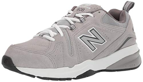 New Balance Men's 608v5 Casual Comfort Cross Trainer Shoe, Grey Suede, 11 M US