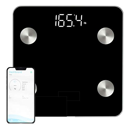 Best Prices! OKOK Smart Body Fat Scale - Bluetooth Body Composition Analyzer Measures Weight, Body F...