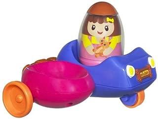 Hasbro 1 X Playskool Weebles Wobblin Go-Cart - Girl