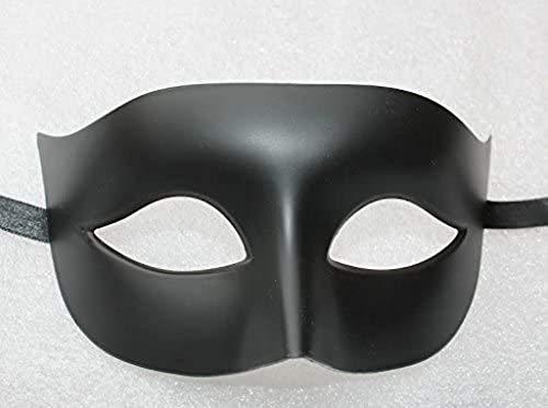 Hommes ou Dames Qualité Vénitien Masque de Mascarade Partie des Yeux Masque Noir Matte Carnaval
