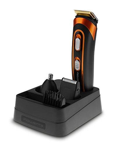 Rowenta Multistyler Trim&Style 5 en 1 TN9100F0 - Cortapelos para barba y cuerpo Wet & Dry con recubrimiento de titanio en sus cuchillas con 60 minutos de autonomía y base de soporte