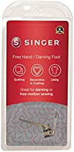 SINGER   Stippling, Darning & Freehand Embroidery Presser Foot, Stipple Quilting, Repair Holes, Create Freehand Monograms - Sewing Made Easy