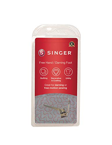 SINGER | Stippling, Darning & Freehand Embroidery Presser Foot, Stipple Quilting, Repair Holes,...