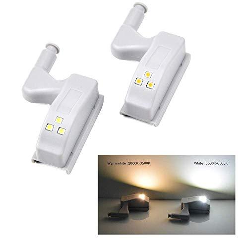 ZANYUYU Bisagra de la lámpara del Sensor LED de 0.3W Universal Interior del Armario de distribución Armario Armario de Puertas 3 Leds luz de la Noche Encendido/Apagado automático del Bulbo (Color: B