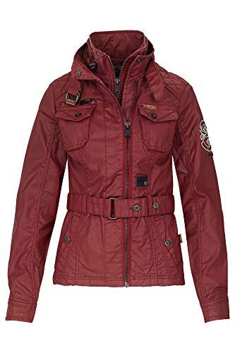 khujo Siren Quilting Contrast & Inner Jacket, Farbe:rot, Größe:XL