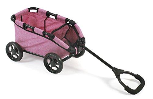 Bayer Chic 2000 660 70 - Ziehwagen Skipper, Handwagen für Puppen oder Teddybären, Jeans Pink