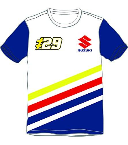 MotoGP Apparel Ai-Suzuki - Giacca a righe, blu, taglia XXL
