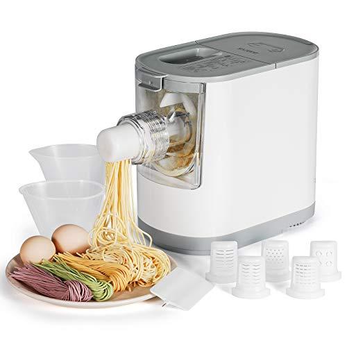 Razorri Vollautomatische elektrische Nudelmaschine - Kompakte Größe für 2 - 3 Portionen - 6 Nudelformen - Spaghetti, Fettuccine, Makkaroni, Linguine Udon