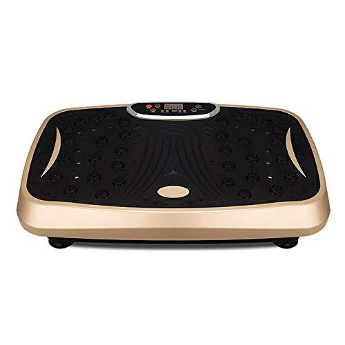 B/H Plataforma Vibratoria 3D para,Máquina de eliminación de Grasa multifunción Perezosa, máquina de Adelgazamiento-Local Gold_Upgrade,Plataforma Vibratoria Ultra Slim