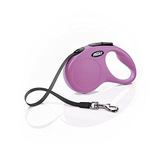 FLEXI New Classic einziehbare Hundeleine, 4,9 m, klein, Pink