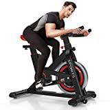 OUNUO Exercise Bikes (2020 New Version), Indoor Cycling Bike, Stationary, Bidirectional Flywheel,...