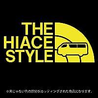 ハイエース 200系ステッカー THE HIACE STYLE【カッティングシート】パロディ シール(12色から選べます) (黄色)