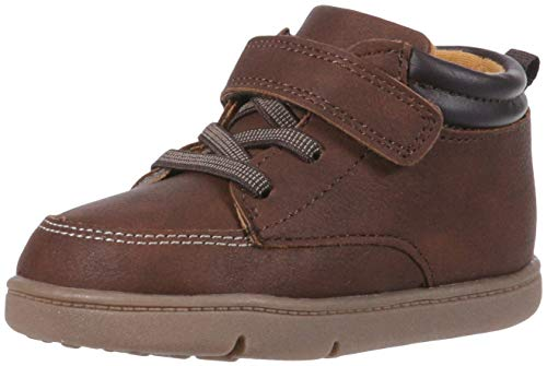 Carter's Every Step Boys' Infant 1st Walker Nikson Fashion Boot, Brown, 4 Medium US Toddler