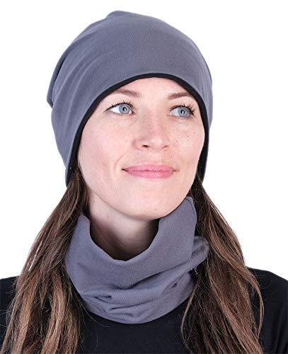 Hilltop warme sjaal of muts hoogwaardig verwerkt, beide dubbellaags, halszoek, buisvormige doek, voor heren en dames, afzonderlijk of als spaarset te kopen.