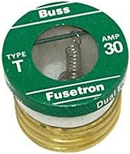 Bussmann Plug Fuse Dual Element 30 Amp 125 V Brass Industrial Strength Box / 4