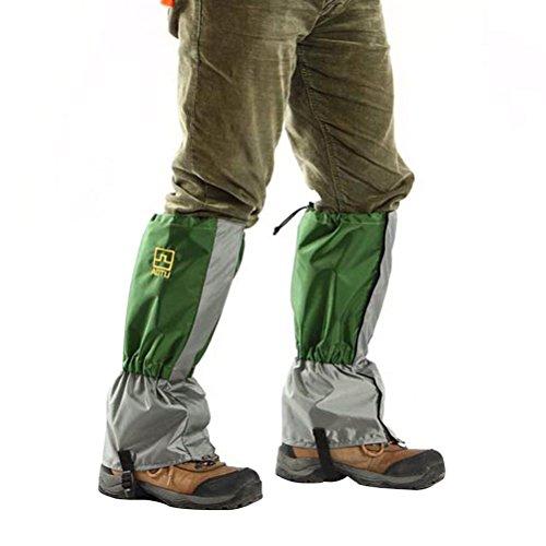WINOMO 1 paire Guêtres Imperméable et Résistant au vent pour protection des jambes pour Randonnée-Escalade-Ski-Activités de plein air(vert armée)