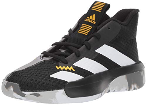 adidas Unisex Pro Next Basketball Shoe, Black/white/active Gold, 4 M US Big Kid
