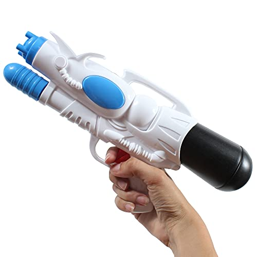 BLUESKY-44123 BLUESKY - Pistola de Agua con Bomba con depósito - Azul y Blanco - 44123-30 cm - Juego de Aire Libre Desde 3 años