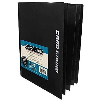CardGuard Trading Card Pro-Folio 9-Pocket Side-Loading Pages Holds 360 Cards Black