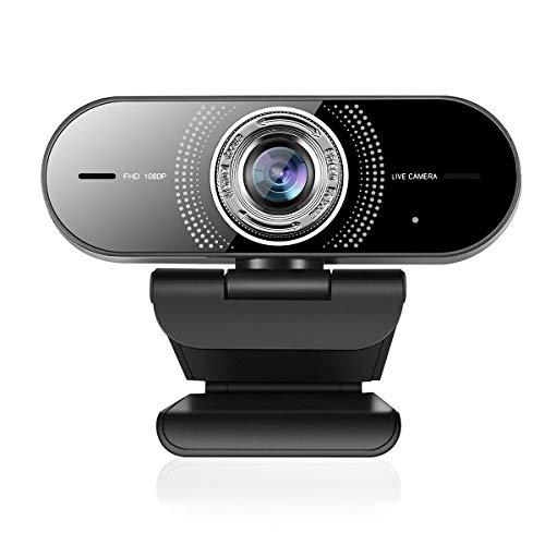 1080PComputerCamerawithMicrophone,100°WideAngleWebcamPlugandPlay,WebCameraforDesktop/Computer/PC/Laptop/Mac