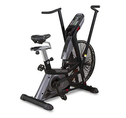 BH Bicicleta Estática HIIT H889 - Profesional - Sistema de transmisión Correa Poli-V - Sistema de Resistencia electromagnmético + Aire