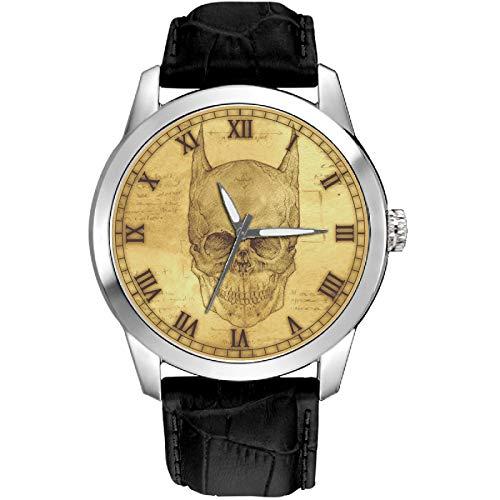 Batman Contre Leonardo da Vinci. Reloj de pulsera clásico de latón macizo.