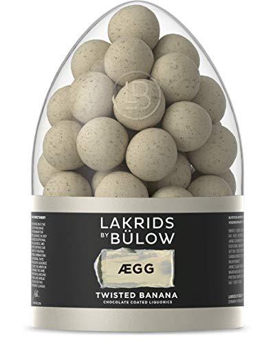 LAKRIDS BY BÜLOW - ÆGG - Twisted Banana Egg - 485g - Pralinen-Geschenk mit weicher Gourmet Lakritze umhüllt von Schokolade