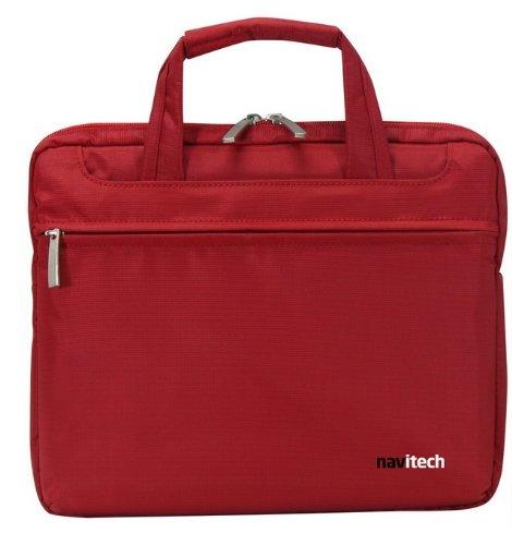 Navitech Rote Wasserwiederständige Premium Schocksichere 13,1 Zoll Laptop/Notebook Trage Tasche für das Packard Bell EasyNote TS11HR039