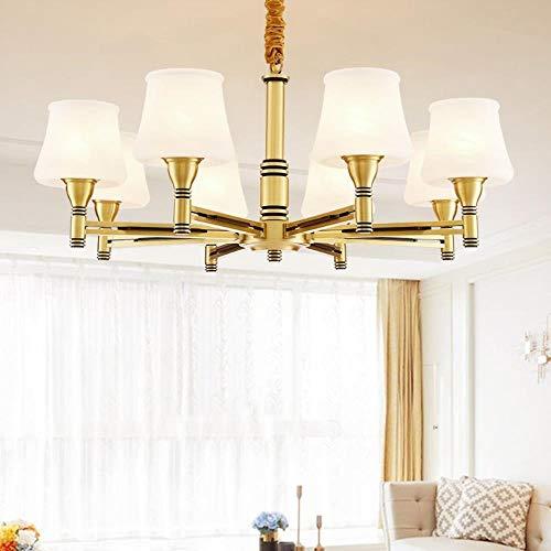 Europaweite Kupfer Kronleuchter modernes minimalistisches Wohnzimmer Restaurant Schlafzimmer Lampen amerikanische komplett neues chinesisches Kupfer Kronleuchter Großhandel, 10 + 5 (Durchmesser 100 cm
