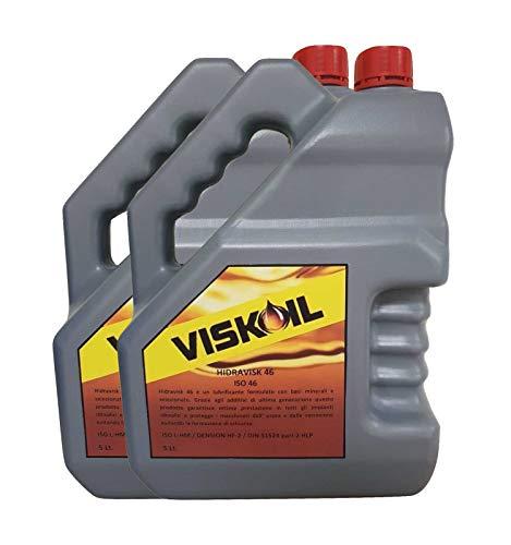 Viskoil 10 Litri Olio Idraulico 46 Fluido antiusura antischiuma sistemi Idraulici