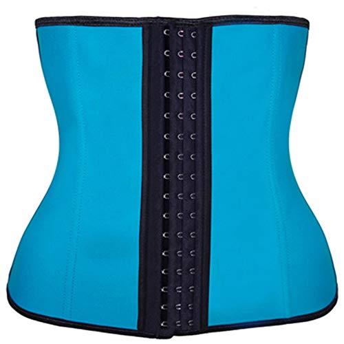LEYUANA 9 moldeadores de Cuerpo de látex de Hueso de Acero Moldeador de Cintura de corsé de Mujer XXXL Azul
