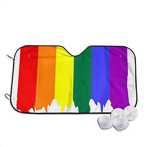 WCHAO Rainbow Drip Home Front Auto Car Parabrisas Sombrilla Sombrilla para automóvil Mantener los Accesorios del vehículo