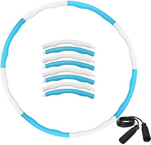 Fivekim Espuma Hula Hoop Desmontable Masaje De Esponja Hula Hoop Tipo Pesado Esponja Hula Hoop Blanco + Azul Ocho Secciones