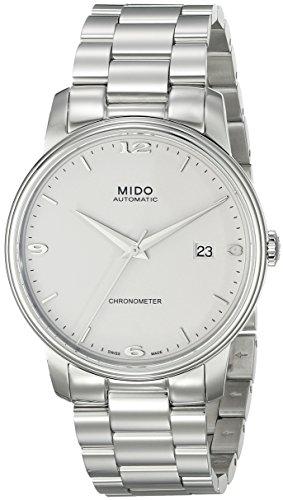 Mido Herren-Armbanduhr XL Baroncelli III Analog Automatik Edelstahl M0104081101100