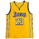DFKGL Jersey para Hombres, Lákérl Lébron Jámés # 23 City Edition Jersey, Camiseta de Baloncesto de la Camiseta de los Deportes sin Mangas Transpirable (S-XXL) Yellow-XXL
