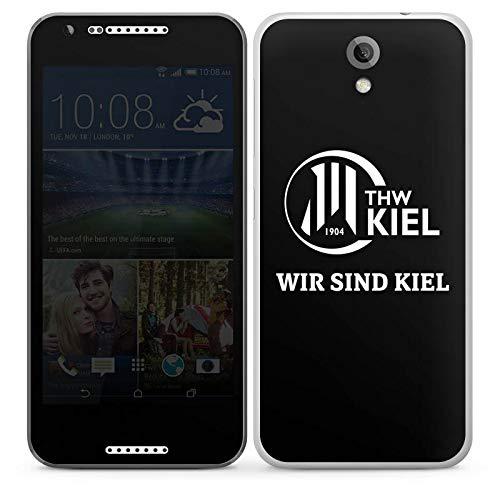 Folie kompatibel mit HTC Desire 620 Aufkleber Skin aus Vinyl-Folie Handball THW Kiel Fanartikel