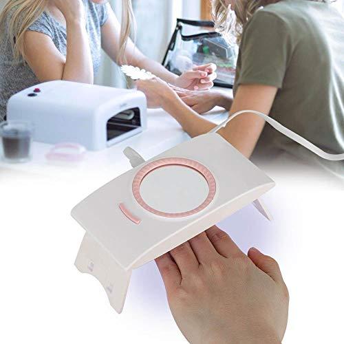 Lampe à Ongles Pliable, Machine portative d'art de Clou de dessiccateur de dessiccateur de Gel de Gel portatif futé de 16W avec Le Miroir USB Interferface(Blanc)