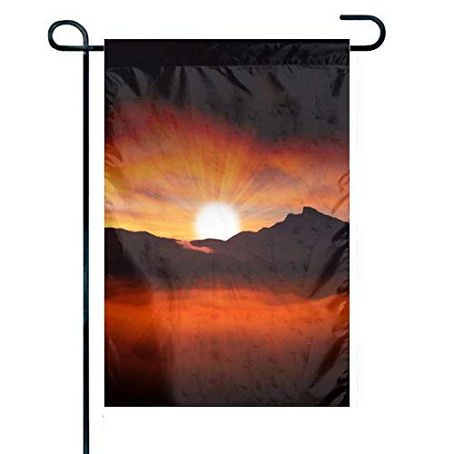 hongwei Garden Flag Colorful Pattern Home Yard House Decor Banner Outdoor Stand 12.5' x 18' Inches Flag Sunrise Sun