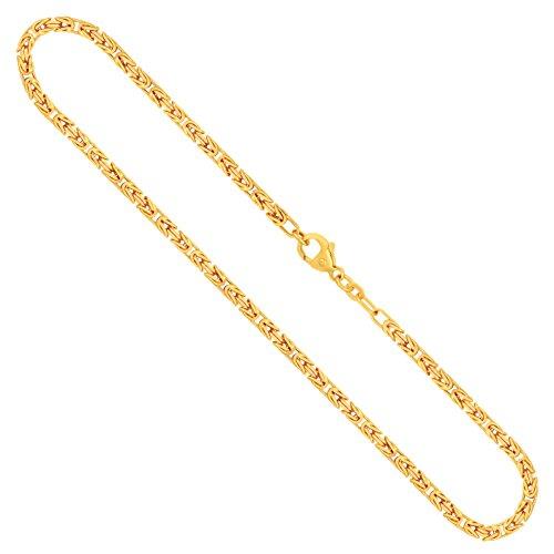 Goldkette, Königskette Gelbgold 585/14 K, Länge 50 cm, Breite 3 mm, Gewicht ca. 27.5 g, NEU