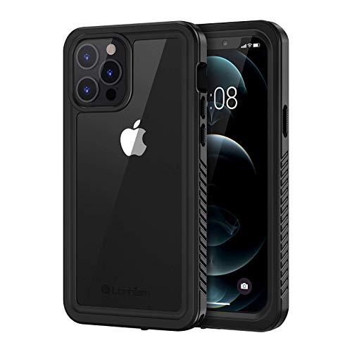 Lanhiem Cover iPhone 12 PRO Max Impermeabile 5G[IP68 Certificato Waterproof]Full Body con Protezione dello Schermo Antiurto Antipolvere AntiGraffio Subacquea Custodia per iPhone 12 PRO Max(6.7'),Nero