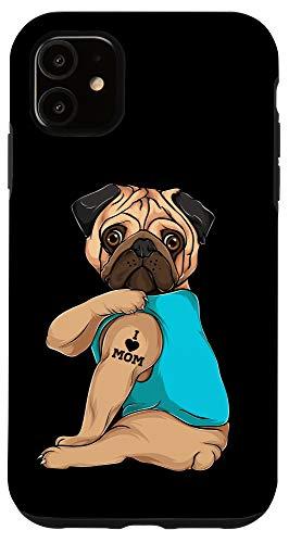 iPhone 11 French Bulldog I Love Mom Tattoo Accessory Dog Dad Gift Dads Case