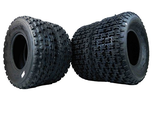 New MASSFX ATV Sport Quad Tires Two Front 22x7-10 and Two Rear 22x10-10 4 Ply Tires For Yamaha Raptor Banshee Honda 400ex 450r 660 700 400 450 350 250 ('4 Pack(2 Front 22x7-10) (2 Rear 22x10-10)')