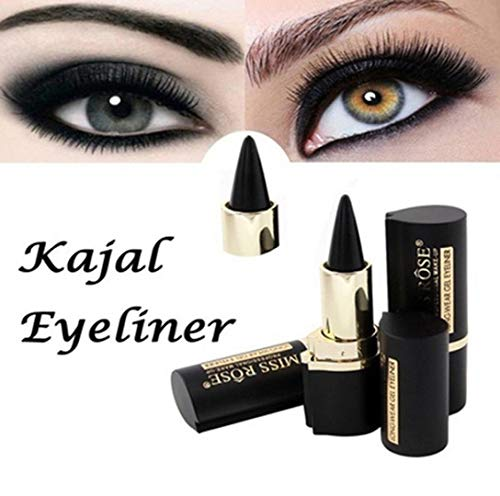 DIVISTAR Wateroroof Smoky Eyes Eyeliner Augen Bleistift Gel Eyeliner Sticker dick schwarz Bold Eyes Liner Gel Pencil Cosmetic Makeup (schwarz)