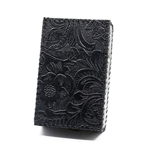 XFYJR Caja de cigarrillos hecha a mano de cuero de vaca impermeable y resistente a la presión, puede contener 20 cigarrillos