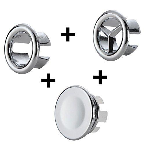 Betrieb 3 PCS Überlauf Abdeckung Gap für Badezimmer Küche Waschbecken Loch rund Überlauf, Becken Ordentlich einfügen Ersatzteile
