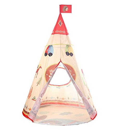 Kids Teepee Play Tent Children Indian Wigwam Indoor/Outdoor Playhouse,Birthday