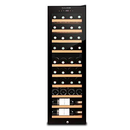 JCOCO - Cave à vin thermoélectrique de 38 bouteilles - cave à vin rouge et blanche - cave à vin à poser - réfrigérateur autonome avec afficheur numérique LCD