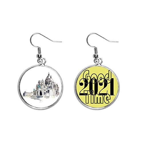Sacre-Coeur in Paris France Earrings Ear Pendants Jewelry 2021 Good Luck